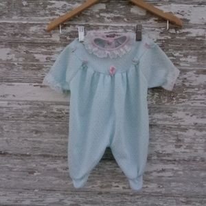 Handmade Retro Onesie Floral Lace Baby Clothes